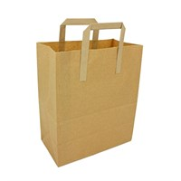 Take Away Bag Paper Brown Large