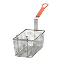 Fry Basket Rectangular Orange Handle 12 x 6.37