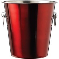 Wine Ice Bucket Red 21.5 x 20.5cm