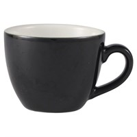 Cup Bowl Shaped China Black 9cl