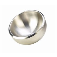 Bowl Double Walled Dual Angle Steel 24cm