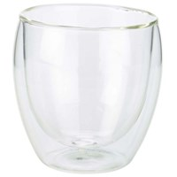 Double Walled Coffee Glass 25cl 8.75oz