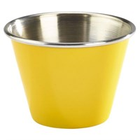 Ramekin Yellow Stainless Steel 2.5oz 7cl