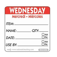 Label WED 5cm sq UltraRemovable Food