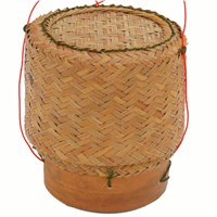 Bamboo Basket For Serving Sticky Rice 3.5inch