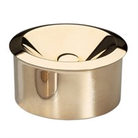 Ashtray Windproof Brass Finish 11x5.5cm