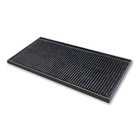 Bar Mini Service Mat Rubber 15x30x1.3cm Black