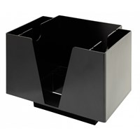 Bar Caddy Organiser 3 Section Black Plastic