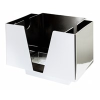 Bar Caddy Organiser 3 Section Chrome Plastic
