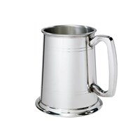 Double Lined Pewter Tankard 1 Pint