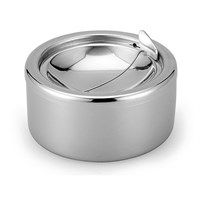 Ashtray Cigar Windproof Steel Round Steel 10 x 6.8cm