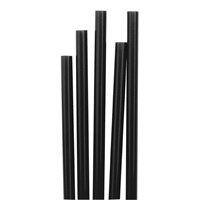 Straw 20cm PLA Bio Black 6mm D