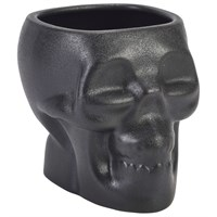 Tiki Skull Mug Black Cast Iron Effect 80cl