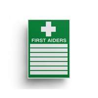 Sign First Aiders 300x200mm Self Adhesive