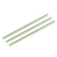 Straw 21cm PLA Green Stripe 10mm D