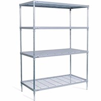 4 Tier Wire Shelving Nylon Coated Craven 170x147cm
