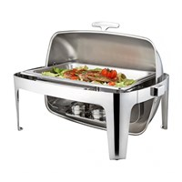 Chafing Dish Rectangular Roll Top 1/1 GN 8.5L