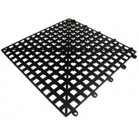 Black Interlocking Bar Shelf Tile 33cm x 33cm