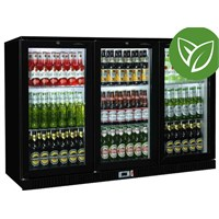 Bottle Cooler Sterling Sliding 3 Door Blk