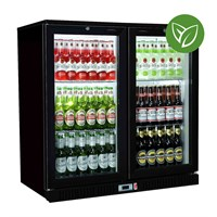 Bottle Cooler Sterling Sliding 2 Door Blk