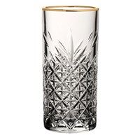 Timeless Vintage Gold Rim Highball Glass 30cl
