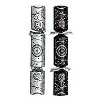 "Christmas Cracker Black/Silver Swirl 35.6cm (14"")"