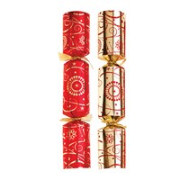 "Christmas Cracker Red/Gold Swirl 35.6cm (14"")"