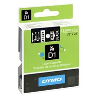 Dymo Label D1 White 1.2cmx7m for 435951