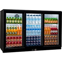 Bottle Cooler 3Door Hinged Sterling Pro Blk