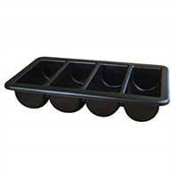 "Cutlery 4 Compartment Black 13"" x 21"""
