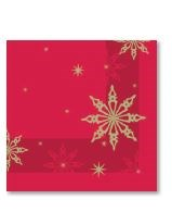 Napkin Christmas Star Red/Green 40cm 2 Ply
