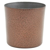Serving Cup Steel Hammered Copper8.5cm