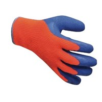 Gloves Freezer Latex Pair Orange/Blue One Size