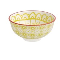 Bowl Yellow Fresca Pattern 12cm