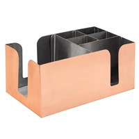 Straw  Bar Caddy Organizer Holder Copper