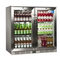 Bottle Cooler Double Door Hinged Coolpoint SS