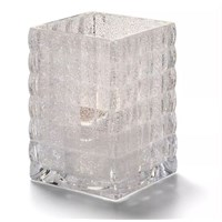 Candle Lamp Square Smoke Clear Holder 6cm