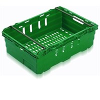 Crate Stackable Vent Green 35L 60x40x19.9mm