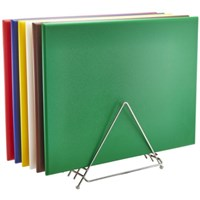 High Density Chopping Board And Rack Set 24 x 18 x 0.75