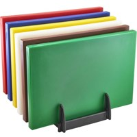 Chopping Board and Rack Set 18x12x1 in
