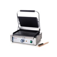 Contact Grill Panini Ribbed Top Smooth Bottom