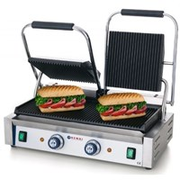 Contact Grill Double Ribbed Top Bottom