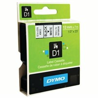 Dymo Black on White Std Tape 4500 1.2cmx7m