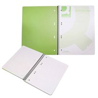 Notebook A5 Green Spiral Bound 160pages