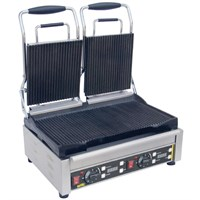 Contact Grill Double Rib Top Smooth Bottom