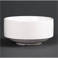Bowl Stacking Soup Fine White China 40cl