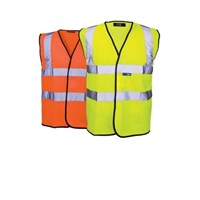 High Visibility Waistcoat Yellow Large