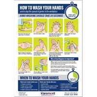 Sign - How to wash your hands A4 vinyl sticker