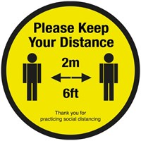 Please keep your 2M social distancing Floor 40cm