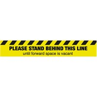 Please stand behind this line until forward space is vacant